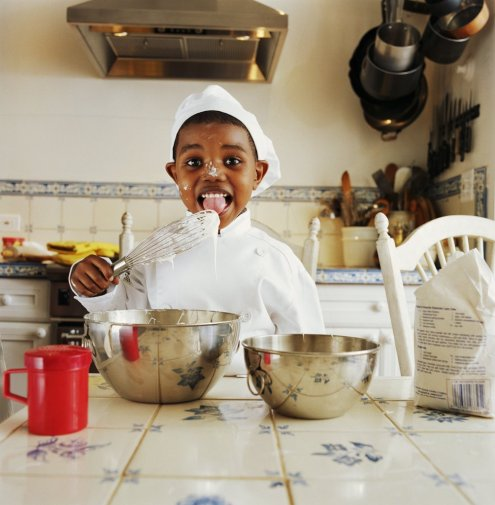 Kid with Mixing Bowl